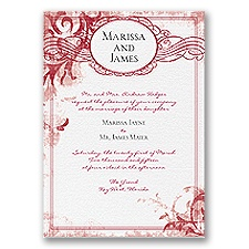 Vintage Monogram - Apple - Invitation