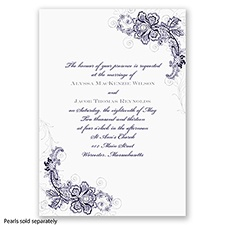 Bridal Lace - Lapis - Invitation