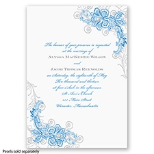 Bridal Lace - Cornflower - Invitation