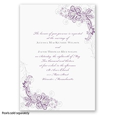 Bridal Lace - Wisteria - Invitation