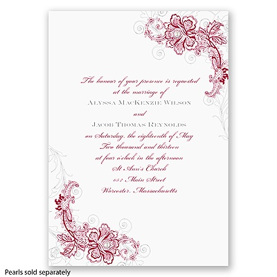 Bridal Lace - Apple - Invitation