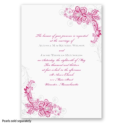 Bridal Lace - Watermelon - Invitation