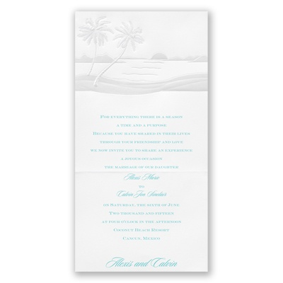 Pearl Palm Trees - Invitation