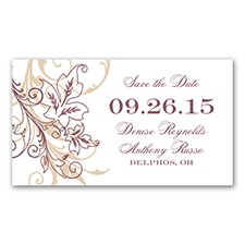 Flourish with Golden Shadow - Rosewood - Save The Date Magnet