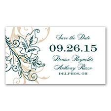Flourish With Golden Shadow - Gem - Save The Date Magnet