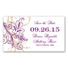Flourish with Golden Shadow -  Sangria - Save the Date Magnet