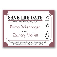 Ticket for Love - Rosewood - Save the Date Magnet