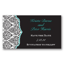 Stylish Damask - Jade - Save the Date Magnet