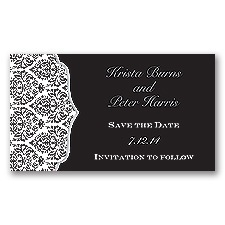 Stylish Damask - Mercury - Save the Date Magnet