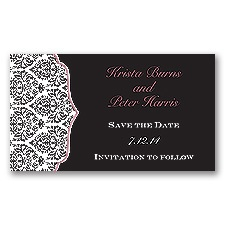 Stylish Damask - Rosewood - Save the Date Magnet