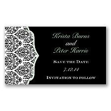 Stylish Damask - Meadow - Save the Date Magnet
