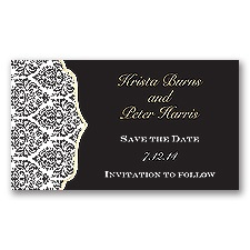 Stylish Damask - Golden - Save the Date Magnet