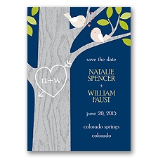 Kissing - Save the Date Magnet - Marine