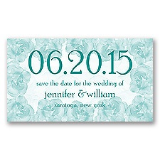 Vintage Roses - Jade - Save the Date Magnet