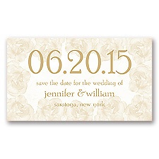 Vintage Roses - Golden - Save the Date Magnet