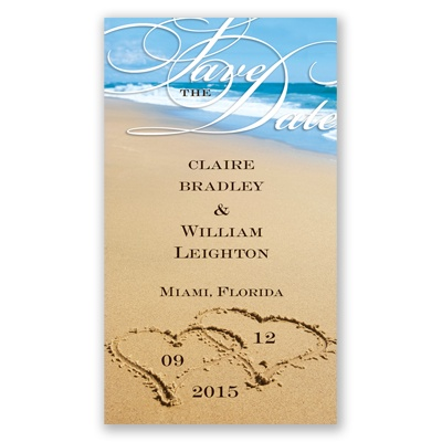 Wedding Invitations Save Dates On The Beach Date Magnet