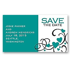 Playful Hearts - Jade - Save the Date Magnet