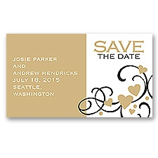 Playful Hearts - Golden - Save the Date Magnet