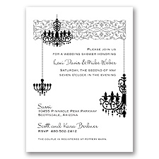 Chandelier - Black - Shower Invitation