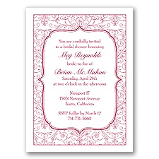 Filigree Border - Apple - Shower Invitation