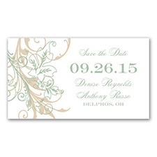 Flourish with Golden Shadow - Meadow - Save The Date Magnet