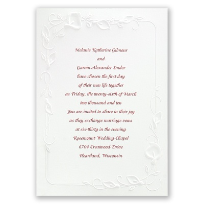Beautiful Border - Invitation