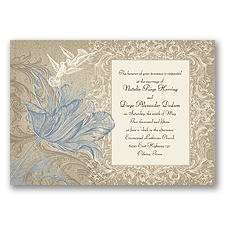 Vintage Love - Cornflower - Invitation