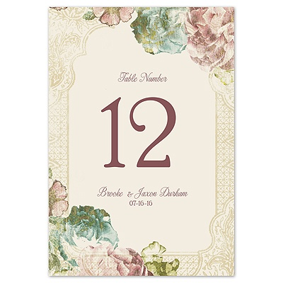Vintage Blossoms - Table Number