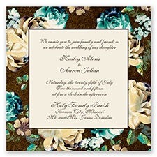 Vintage Border - Chocolate - Invitation