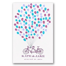 Tandem Bicycle Guest Mat - Guest Book Alternative