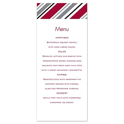 Metro Style - Apple - Menu Card