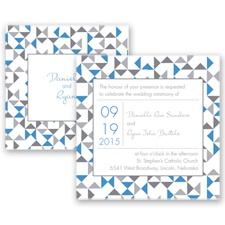 Looking Sharp - Cornflower - Invitation