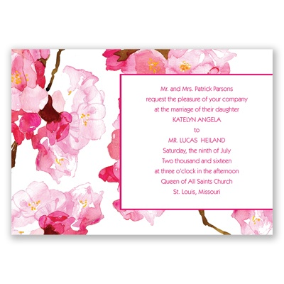 Lush Floral - Watermelon - Invitation