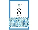 Perfect Paisley Duet - Cornflower- Table Number