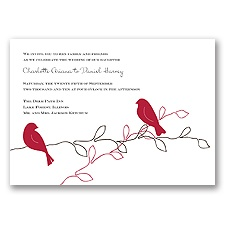 Love Birds - Apple - Invitation
