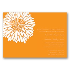 Burst of Love - Tangerine - Invitation