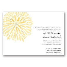 Burst of Color - Canary - Invitation