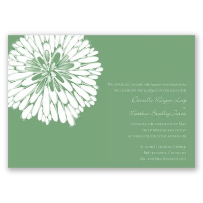 Burst of Love - Clover - Invitation