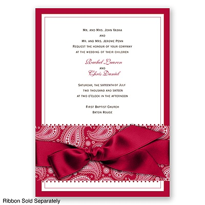 Perfect Paisley - Apple - Invitation