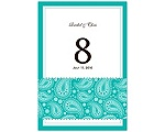 Perfect Paisley - Mermaid - Table Number
