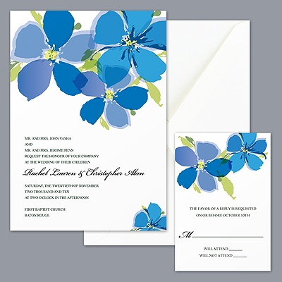 American Dream - Cornflower Invitation