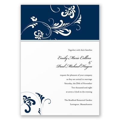 Always & Forever - Marine Invitation