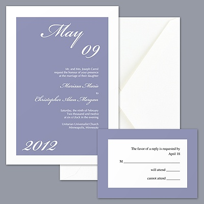 Park Avenue - Victorian Lilac Invitation