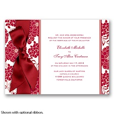 Floral Patterned - Apple - Invitation
