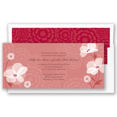 Moonlight Blossoms - Apple - Invitation