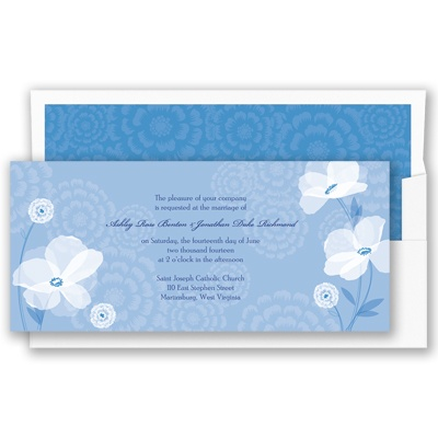 Moonlight Blossoms - Cornflower - Invitation