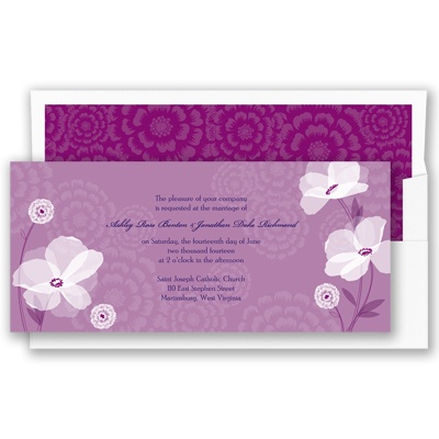 Moonlight Blossoms - Sangria - Invitation