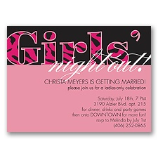 Girls Night Out - Party Invitation