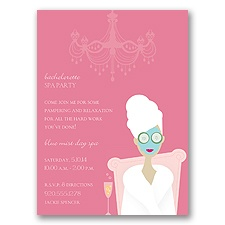 Spa Party - Party Invitation