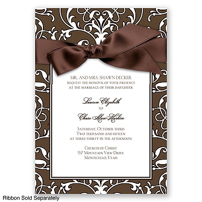 Indulgence - Chocolate - Invitation
